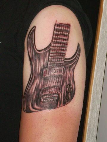 Guitare Travail Du Studio Akira Tatouage